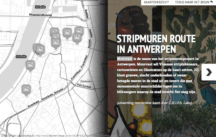Stripmuren route in ANtwerpen