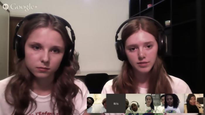 Google Hangout 25 jaar Kinderrechtenverdrag